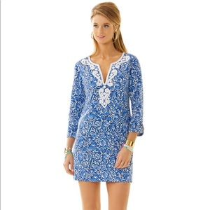 Lilly Pulitzer Julianna Embroidered Blue Dress M